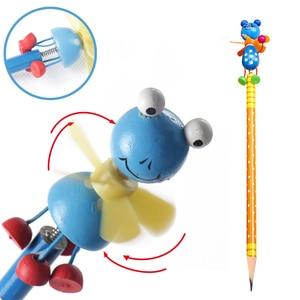 New Windmill Animal Doll Pencils Designs Non-toxic Lead Free Wooden HB Wood Windmill Pen Write Shanghai