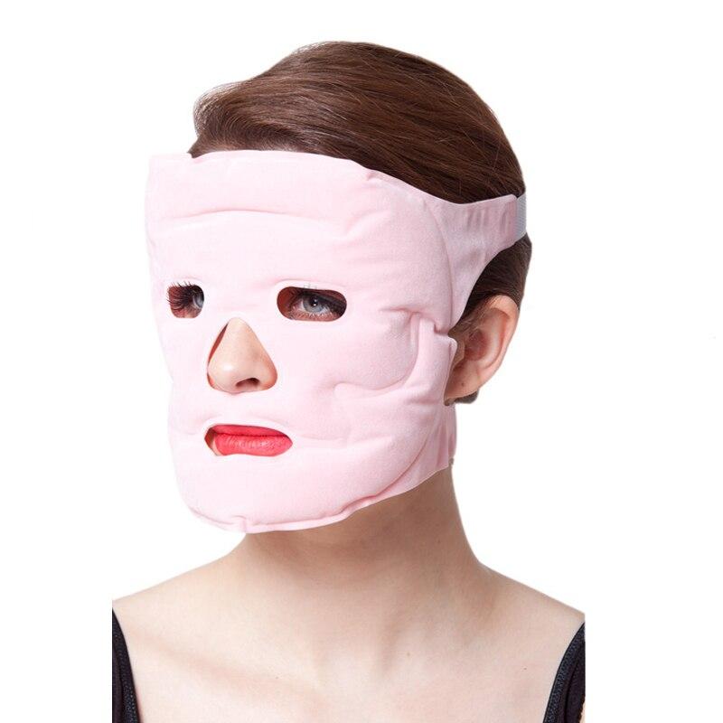 1pcs Beauty Face-lift Mask Tourmaline Magnetic Therapy Massage Face Mask Moisturizing Whitening Face