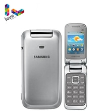 """GT-C3595 dorigine débloqué Samsung C3590 téléphone Mobile à rabat 2.4 """"2MP 3G téléphone portable reconditionné livraison gratuite"""