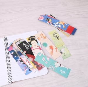 30Pcs/Bag Paper Bookmark Vintage Japanese Style Book Marks For School Student