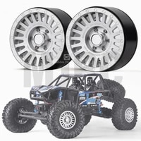 a pair 2 2 inch metal wheel wheel for 110 rc tracked vehicle trx4 mustang rc4wd d90 d110 axial scx10 90046 jimny trx 6 vs4