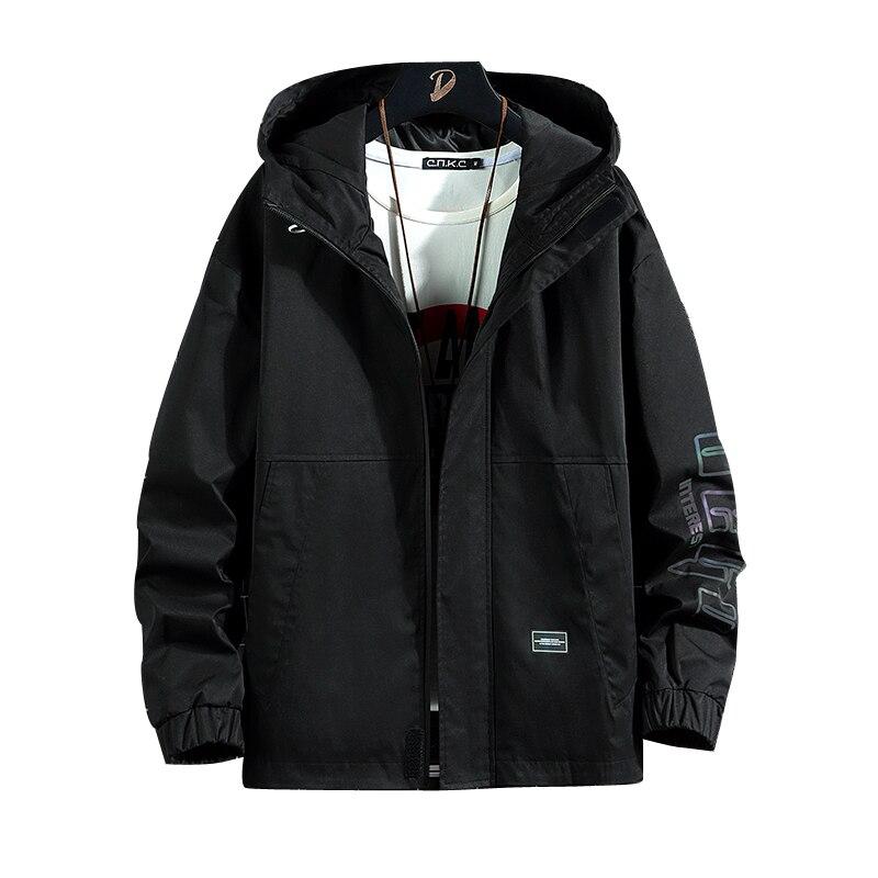 Jacket men 2021 new zipper hooded windbreaker men's casual solid color jacket spring and autumn sportswear thin jacket men original new arrival 2018 adidas neo label m bp wb men s jacket hooded sportswear