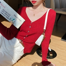 Women's Knitted Cardigan 2020 New Thin Sweater Coat Spring, Autumn and Winter Slim V-neck Short Oute
