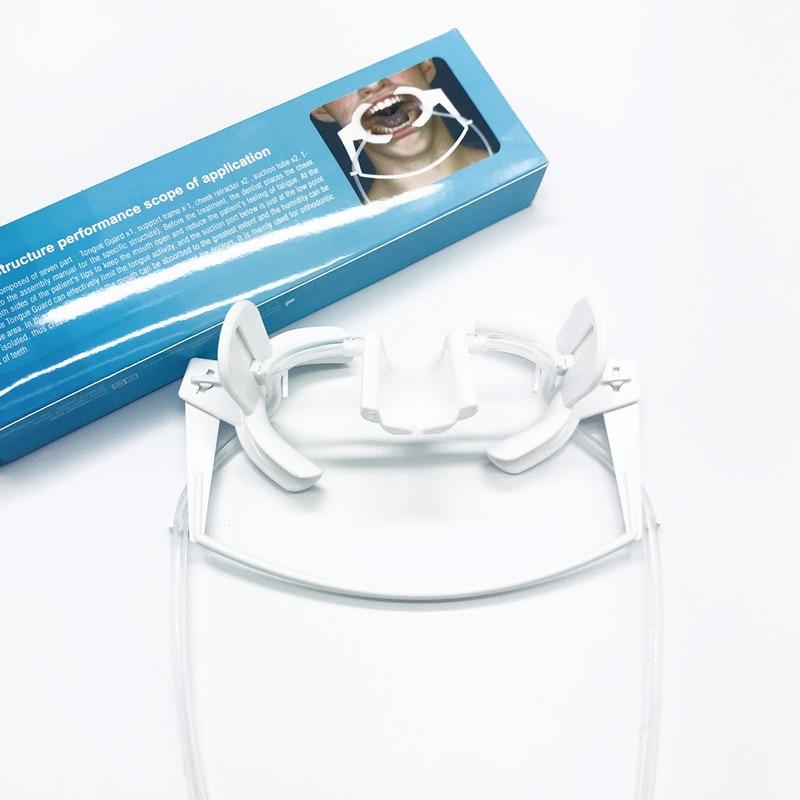 ضام الأسنان مع اللعاب تحت الفم ، فتاحة الفم ، فتاحة الخد ، توسيع طب الأسنان ، نظام شفط المجال الجاف عن طريق الفم