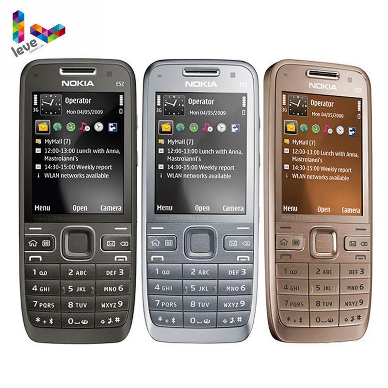 Оригинальный разблокированный телефон Nokia E52 GSM смартфоны wifi Bluetooth gps 3.2MP Поддержка Русская и арабская клавиатура мобильный телефон