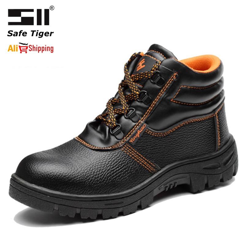 أحذية أمان عالية الجودة للرجال ، أصابع فولاذية ، مضادة للثقب ، غير قابلة للانزلاق ، واقية لمواقع البناء