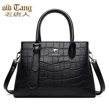 OLD TANG Stone Grain Leather Shoulder Bag for Women 2021 New Fashion Casual High Quality Messenger B