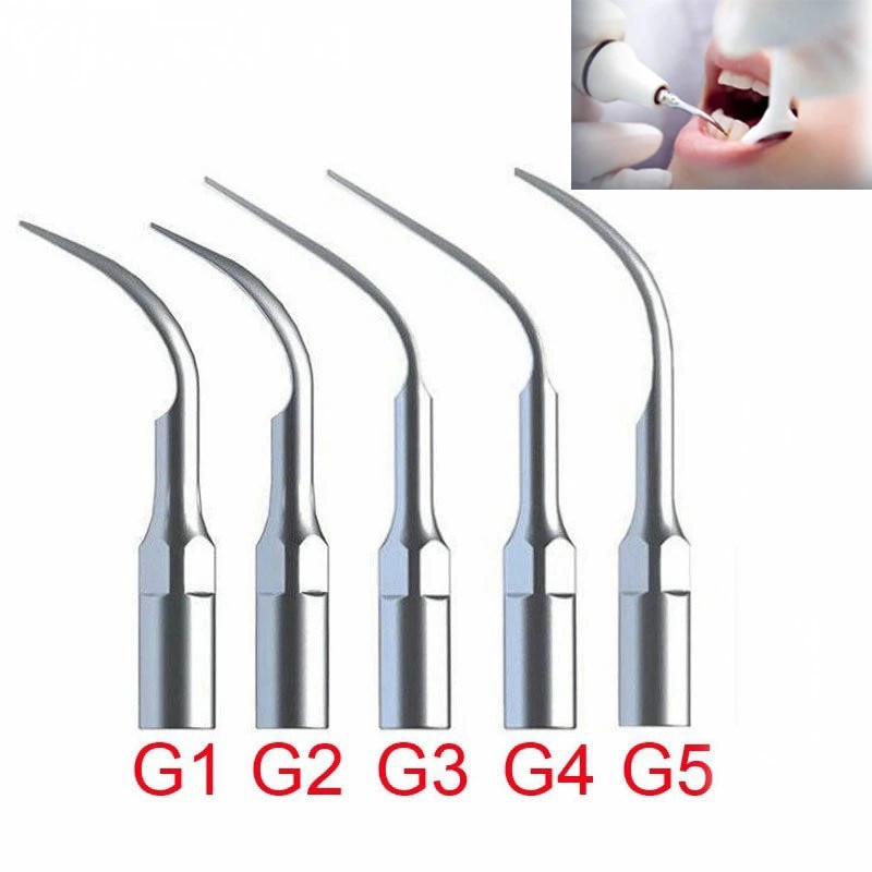 dental endo perio scaling tips for ems ultrasonic scaler handpiece 5Pcs/pack Dental Ultrasonic Scaler Scaling Tip G1 G2 G3 G4 G5 Tips Fit EMS Woodpecker Handpiece Dentistry Instrument