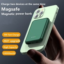 Hot 10000mAh Magsafe Magnetic Wireless Power Bank Mobile Phone External Battery For iphone 13 12 Min