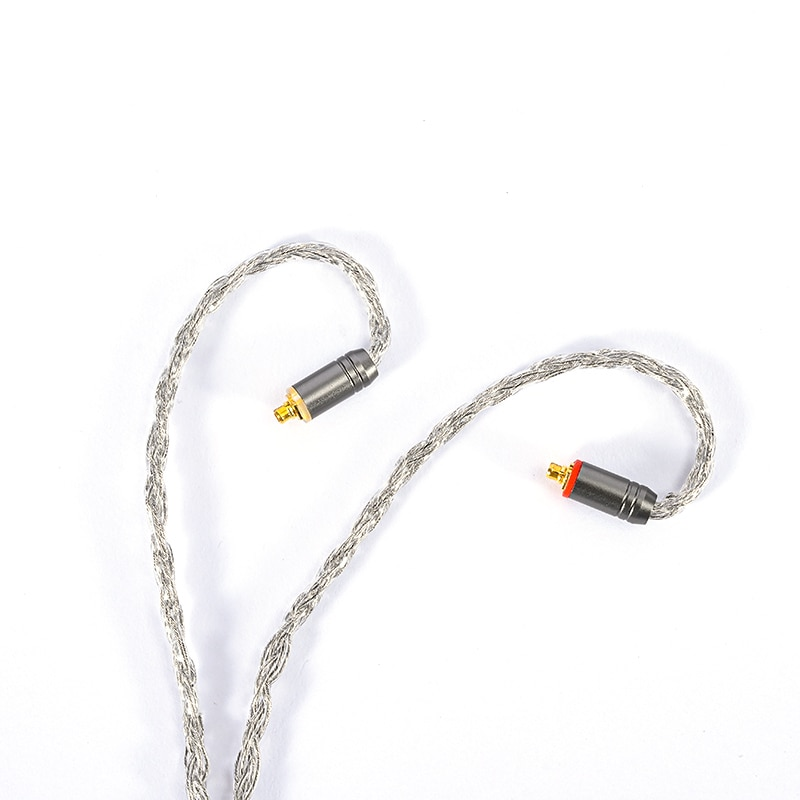 ivipQ 16-Cores GrapheneUpgrade Line LITZ Structure Single Crystal Copper Plated Silver & Graphene Earphone Upgrade Cable enlarge