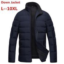 Grande taille 8XL 7XL 6XL duvet de canard blanc longues vestes hommes hiver longue parkas coupe-vent à capuche manteau mâle de haute qualité épaissir manteaux