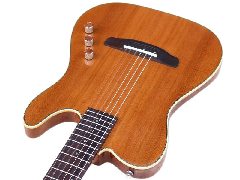 Thin body silent classic guitar 39 inch high grade 22 frets solid wood red cedar top okoume wood back and side classic guitar enlarge