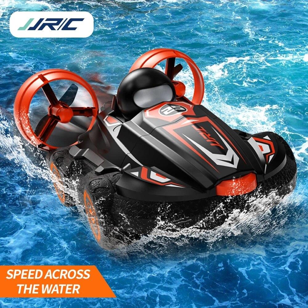 Barco rc 2.4g 2 em 1 anfíbio deriva carro de controle remoto carro hovercraft velocidade barco rc dublê carro para meninos criança modelo ao ar livre brinquedos