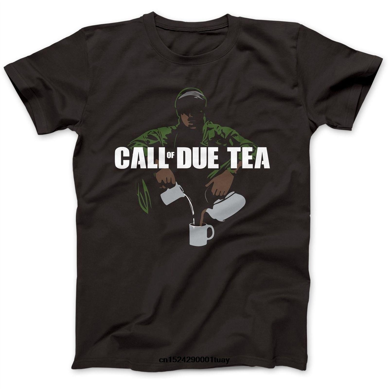 Llamada de debido té parodia camiseta algodón Premium avanzada guerra deber