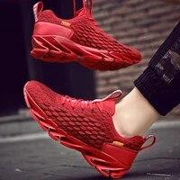 Chaussures dexterieur resistantes pour Homme  baskets de course  de Sport  de marque  rouge  grande taille  2020  E-572