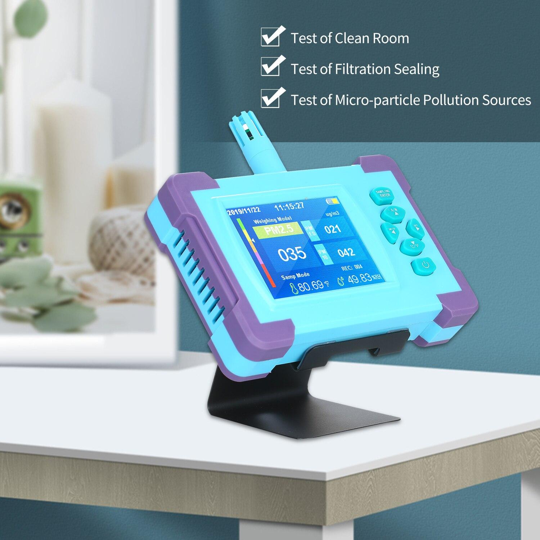 PM1.0/PM2.5/PM10 monitor de calidad del aire analizador Digital de Gas batería recargable portátil Sensor de alta precisión Detector de aire