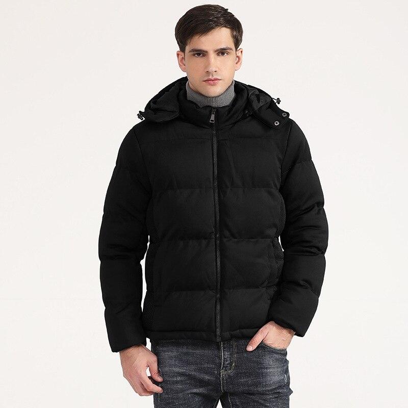 Зимнее пальто, Мужская стеганая куртка, теплая толстая пуховая парка, куртка оверсайз, модная трендовая мужская пуховая куртка с хлопковой ...