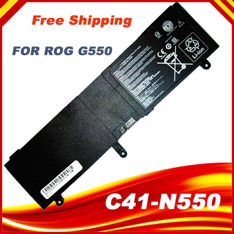 15V batería para ordenador portátil, C41-N550 para Asus N550 N550J N550JA N550JV N550JK N550X47JV Q550L Q550LF G550 G550J G550JK ROG G550