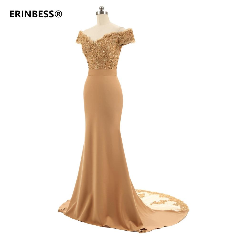 2021 الشمبانيا الزفاف فستان ضيف وصيفة العروس كم كاب زين مطرز حورية البحر فساتين وصيفة الشرف رداء Demoiselle d 'honneur
