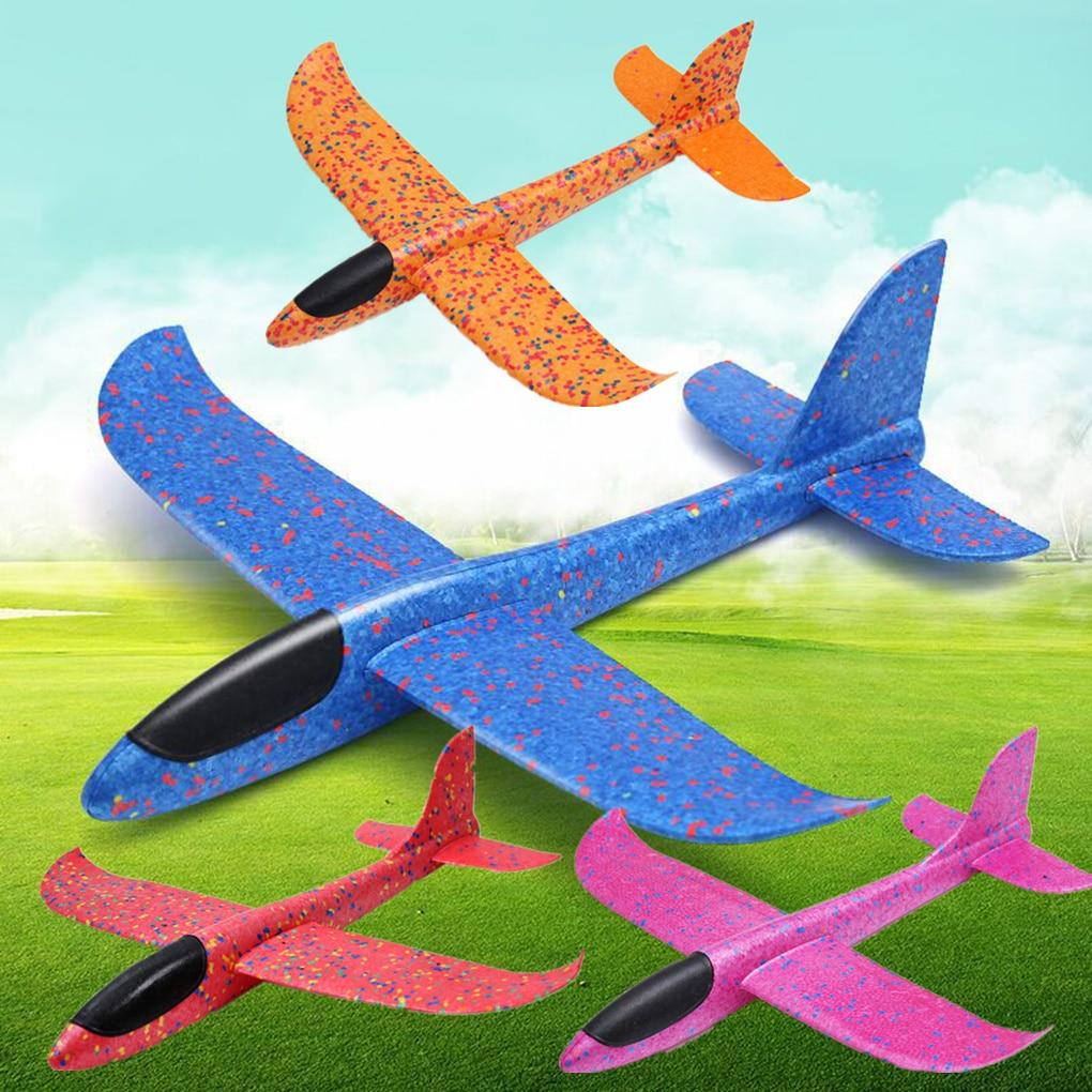 1PC 48CM/35CM Children Hand Throw Flying Glider Planes Toys Kids Foam Aeroplane Model Children Outdo