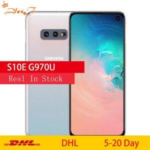 Мобильный телефон Samsung Galaxy S10e G970U1 G970U, Восьмиядерный, Snapdragon 855 LTE, Android, 5,8 дюйма, 16 МП и 12 МП, 6 ГБ ОЗУ, 128 Гб ПЗУ, NFC