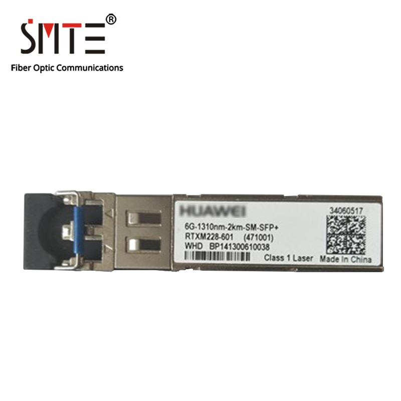 HW RTXM228-601 6G-1310nm-2km-SM-SFP + جهاز إرسال واستقبال الألياف البصرية