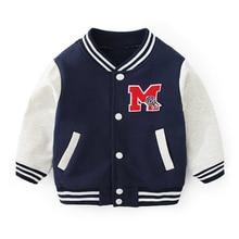 Boy girl Sports Shirt Baby Coat out baseball uniform fashion jacket new spring autumn Single-breaste