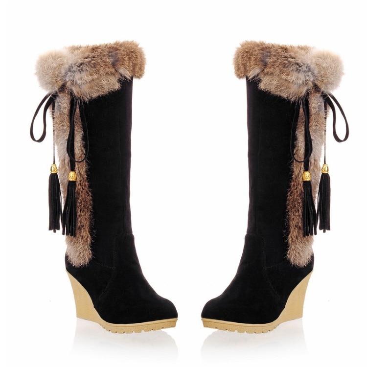 Boots Women New 2020 Women's Shoes Platform Leather Booties  Plush Sexy Thigh High Heels High Sexy Australia Winter