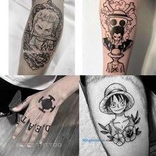 Anime di UN PEZZO Del Tatuaggio Del Tatuaggio Adesivi Rufy Zoro Trafalgar Law Autoadesivo Del Tatuaggio FAI DA TE Impermeabile Autoadesivo di Colore Del Tatuaggio Cosplay Puntelli