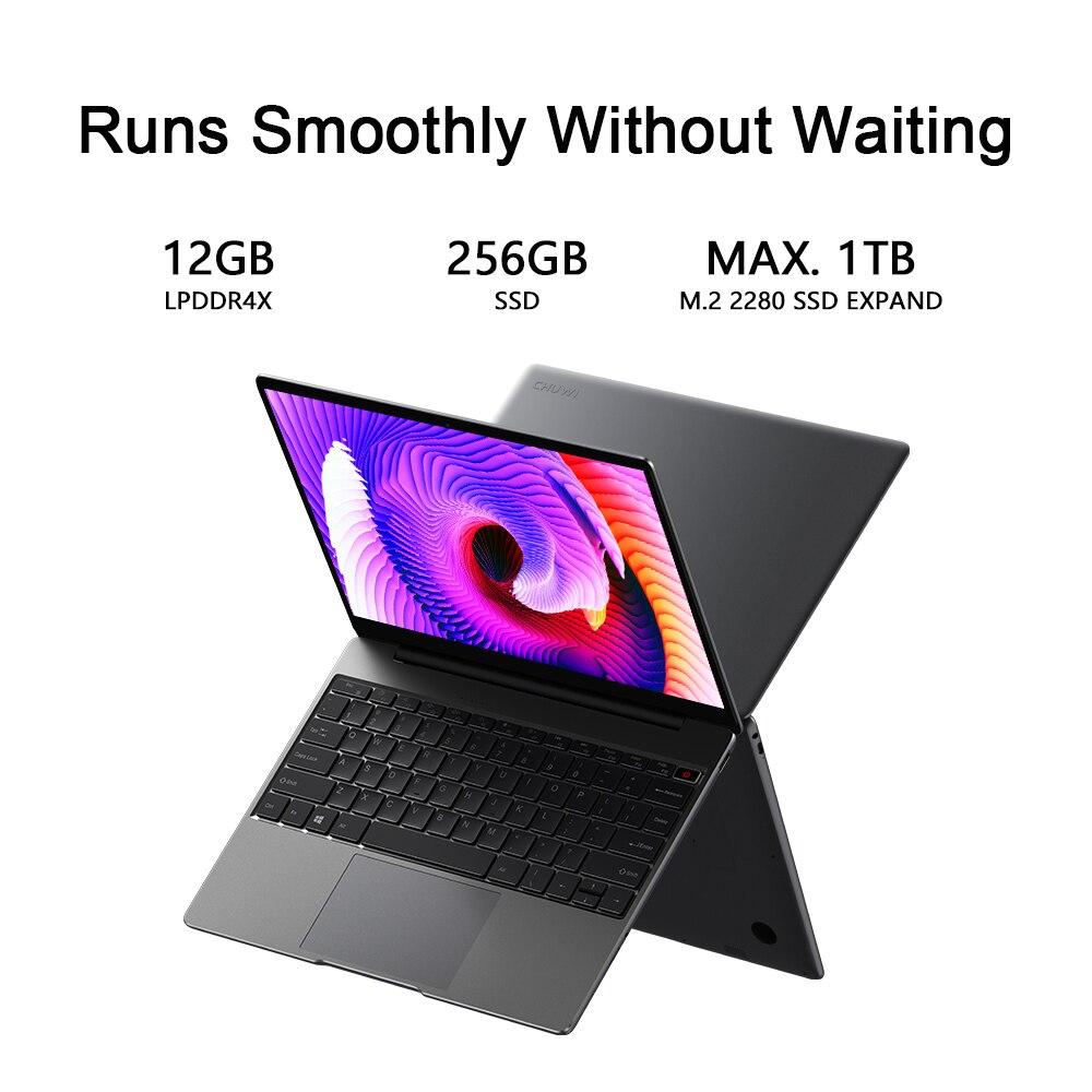 CHUWI GemiBook 13 Inch 2160*1440 Resolution Intel Celeron J4115 Quad Core 12GB RAM 256GB SSD Windows 10 Laptop Dual Band Wifi