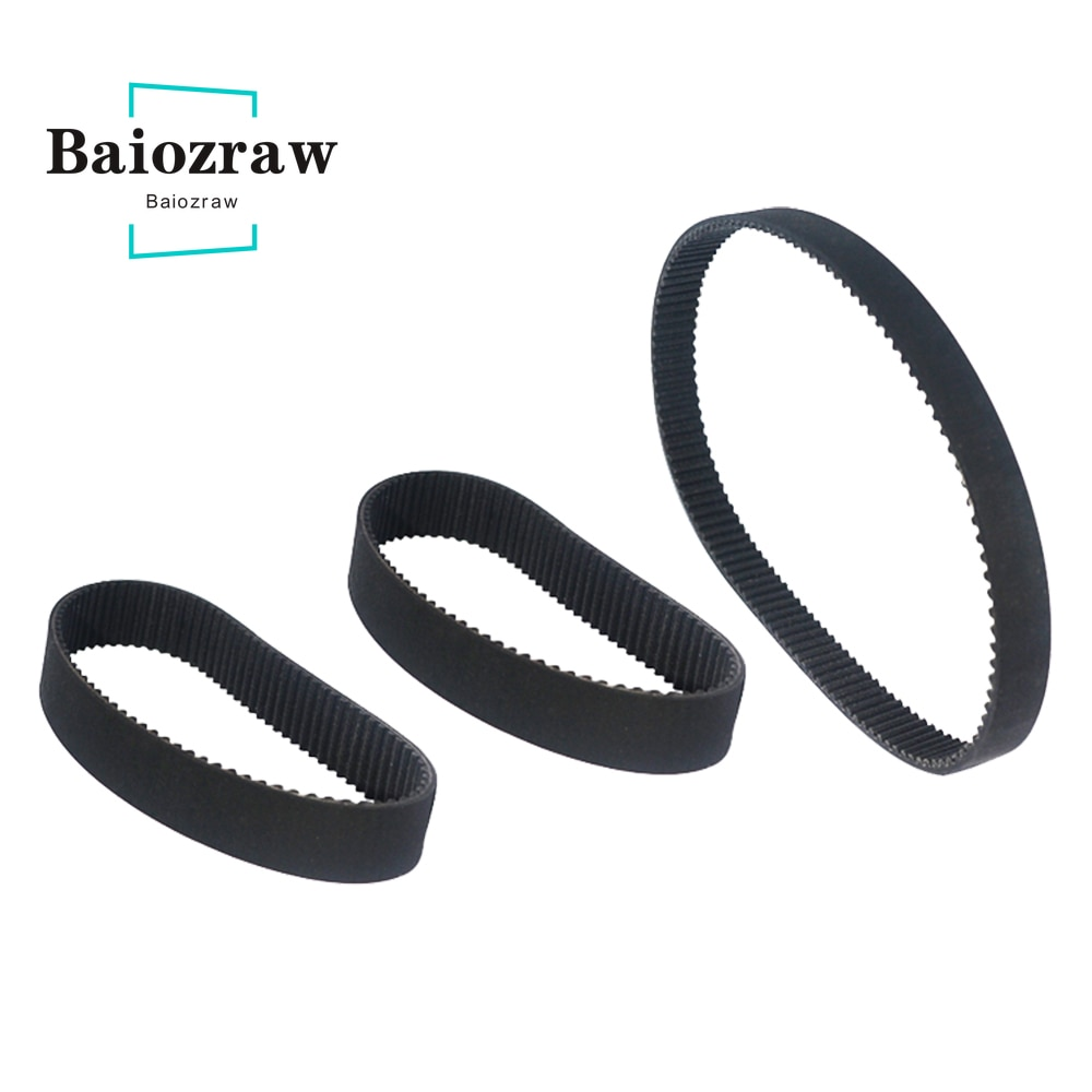 htd 3m timing belt width rubbe toothed belt closed loop synchronous belt pitch 5mm 3D Printer HTD 3M Closed Loop Rubber Timing Belt Length 288mm 1125mm Width 6mm HTD 3M Synchronous Belt Closed-loop