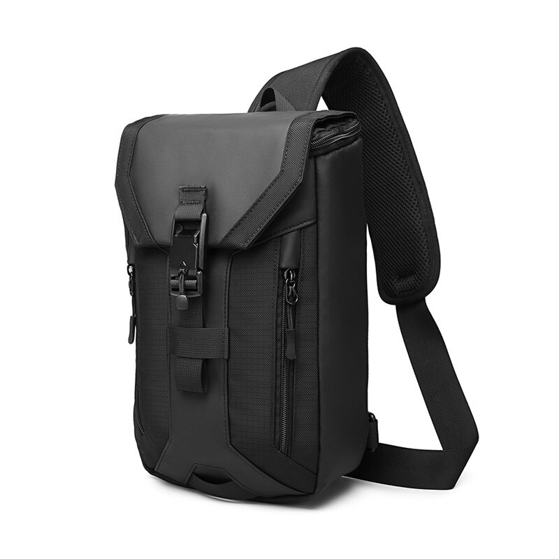 OZUKO Multifunction Crossbody Bag for Men Multi-layer High Quality Waterproof Shoulder Bag Male Messenger Bag for Teenagers Men
