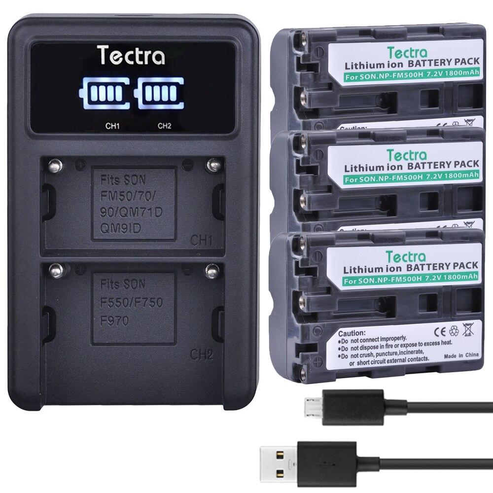 2x1800mAh NP-FM500H FM500H NP fm500h bateria Recarregável Li-ion Battery + LED Duplo Carregador para Sony A200 A200K A200W A300 A350 A450 a580