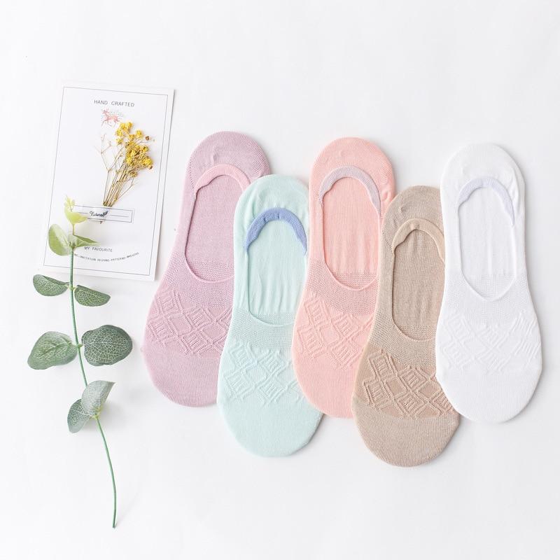 2 Pairs Frauen Boot Socken Frühling und Sommer Damen Unsichtbare Baumwolle Solide Patteratn Licht Farbe socken Flach Mund Niedrigen Kurz