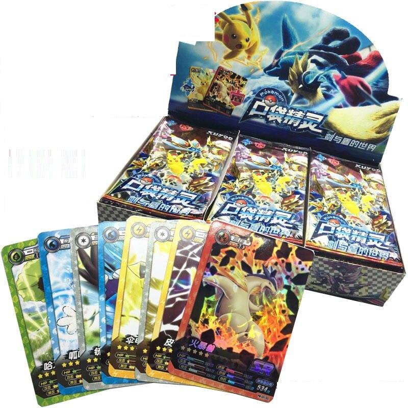 Takara Tomy 288 unids/set Carte Pokemon figurita GX Francaise naipes juego figurita Pokemon cartas caja mangas Juguetes