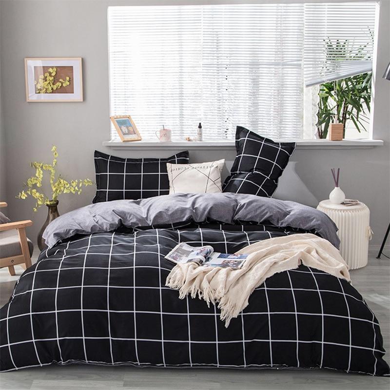طقم سرير فاخر AB الوجه لينة مريحة غطاء لحاف غطاء سرير و المخدة النمط الأوروبي كامل الحجم المنسوجات المنزلية للمنزل