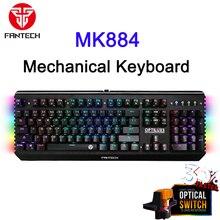 Fantech Mk884 профессиональная механическая клавиатура RGB с подсветкой игровая клавиатура USB Проводная Водонепроницаемая клавиатура для игровог...