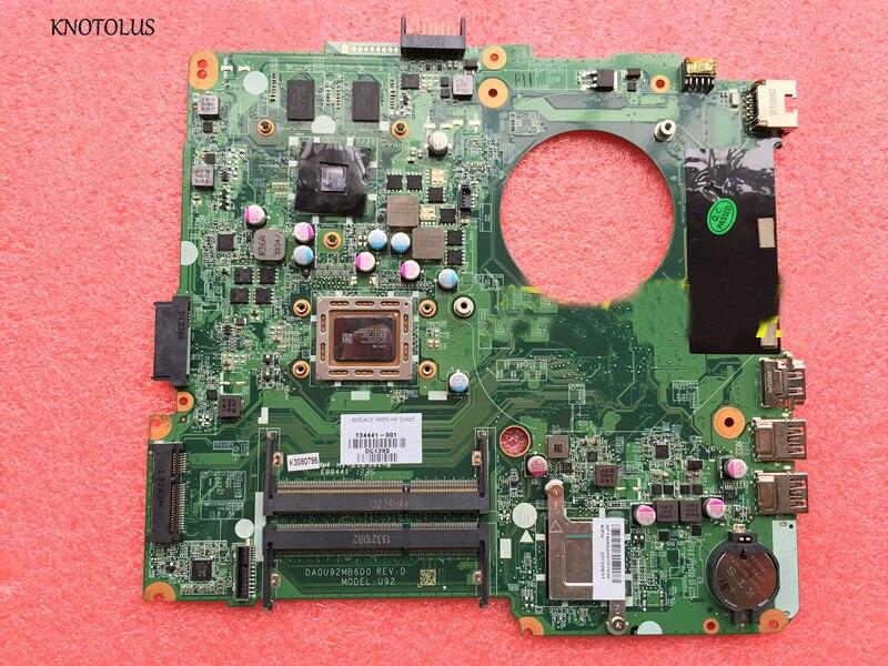 Alta calidad 734441-501 para HP Pavilion 14-N placa base 734441-001 734441-601 A 8670M 2GB A10 placa base de computadora portátil DA0U92MB6D0