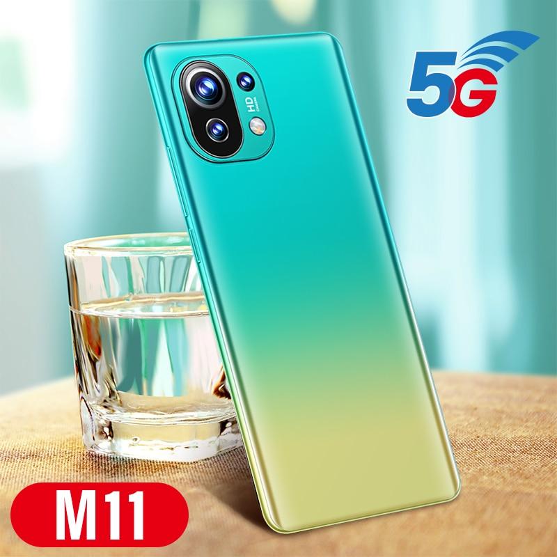 M11 Pro Andriod Phone 6GB+128GB 5200mAh 1440*3220 24+32MP 10 Core Processor Dual SIM Face Unlock Cellphones MTK6889  - buy with discount