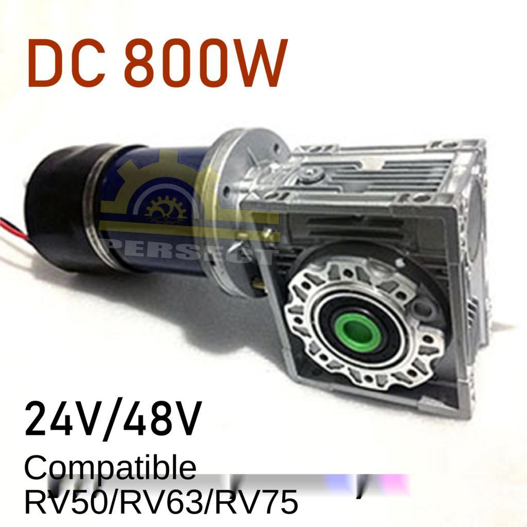 درج-تسلق آلة موتور 24 فولت 48 فولت 800 واط RV50 RV63 RV75 تيار مستمر عالية الطاقة موتور توربو دودة موتور تروس مع الفرامل منخفضة السرعة المحرك
