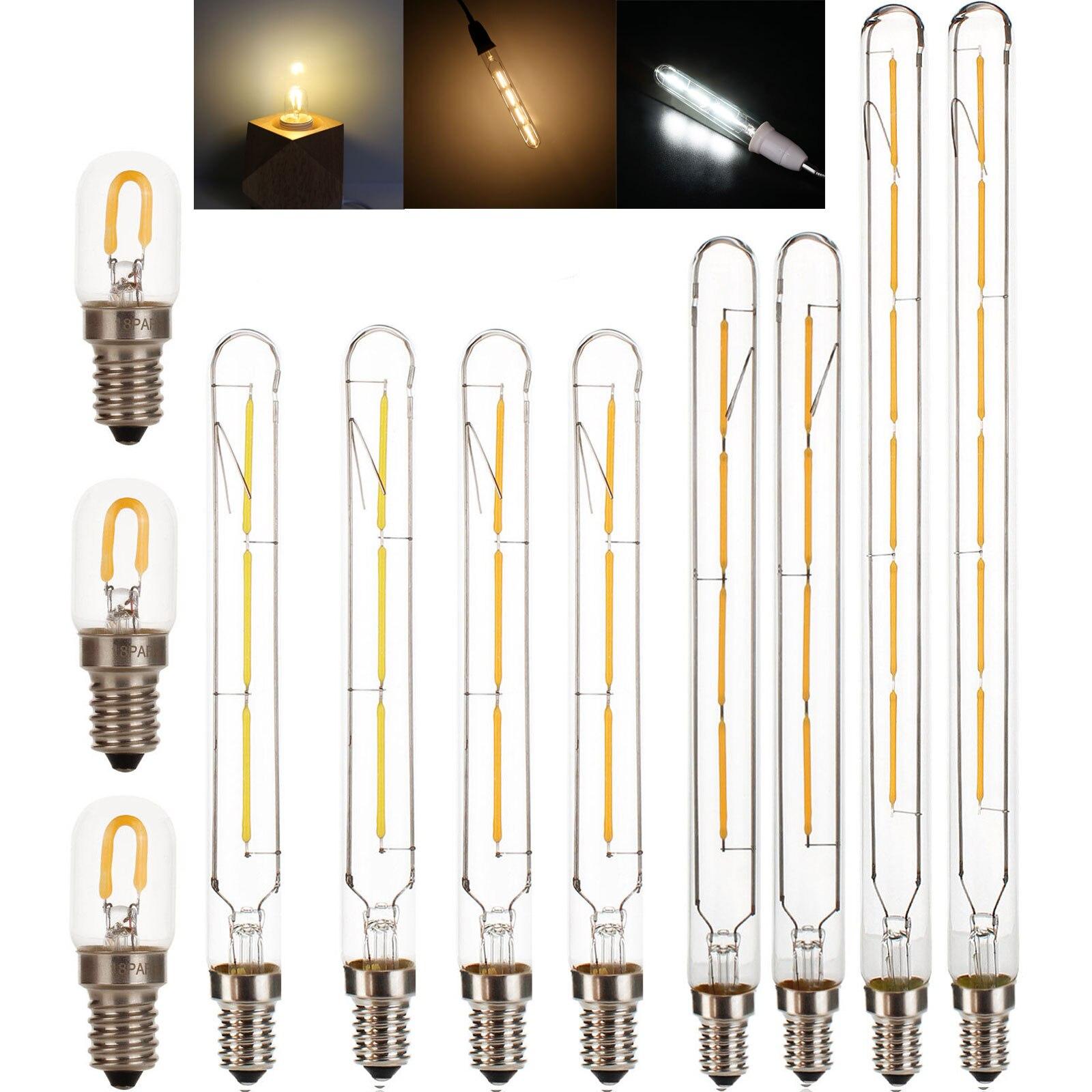T20 E14 lámpara led retro edison Luz de filamento 220v 240v 230v bombilla incandescente de la lámpara LED de novedad luces de decoración del hogar 2700K cálido
