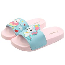 Suihyung Unicorn Slippers For Girls 2021 New Cartoon Children Beach Shoes Summer Kids Sandals Soft N