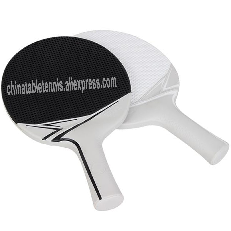 DHS table tennis bat children\'s rubber plastic racket student kids training outdoor racket 2 PCS