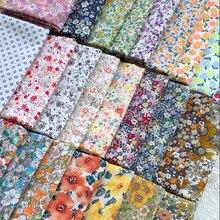 ZENGIA 50X145cm sielankowe kwiatowe lato popelina tkanina bawełniana DIY odzież dziecięca tkaniny zrobić kołdra dekoracji domu