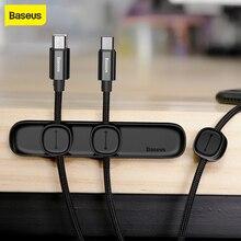 Baseus Magnetic ป้องกันสายคลิป Desktop Tidy สาย USB Car ชาร์จแม่เหล็กสาย Protector