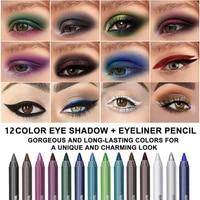 14 colors dnm colorful eyeliner pen matte glitter eye make up natural waterproof long lasting eyeline makeup comestics tslm1
