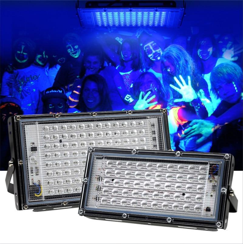 УФ лампа для УФ клей отверждение свет УФ отверждение лампа 100 Вт 395 нм УФ поток свет флуоресцентный Вечеринка сцена свет черный свет драма свет