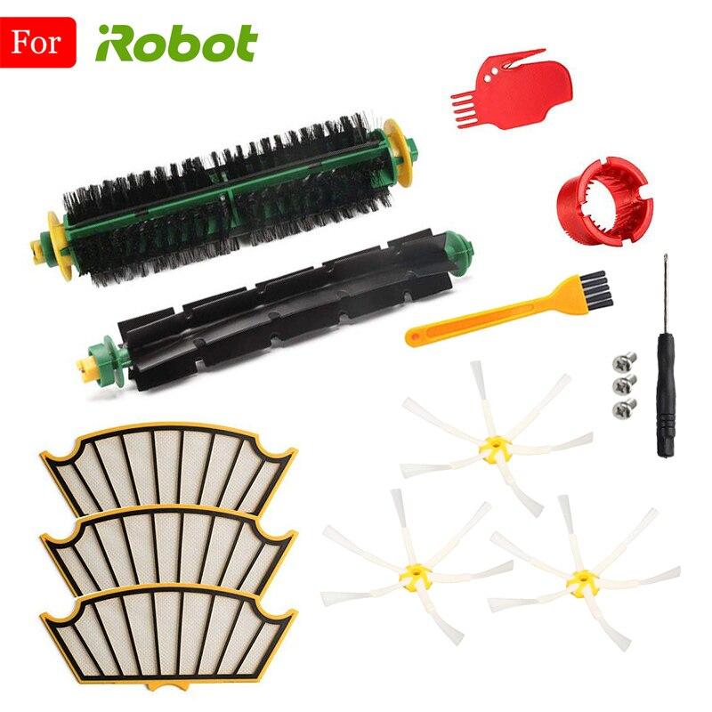 Для iRobot Roomba 500 510 520 527 528 530 532 535 540 550 560 562 570 572 580 581 585 590 боковая щетка Фильтр Пылесос Запчасти