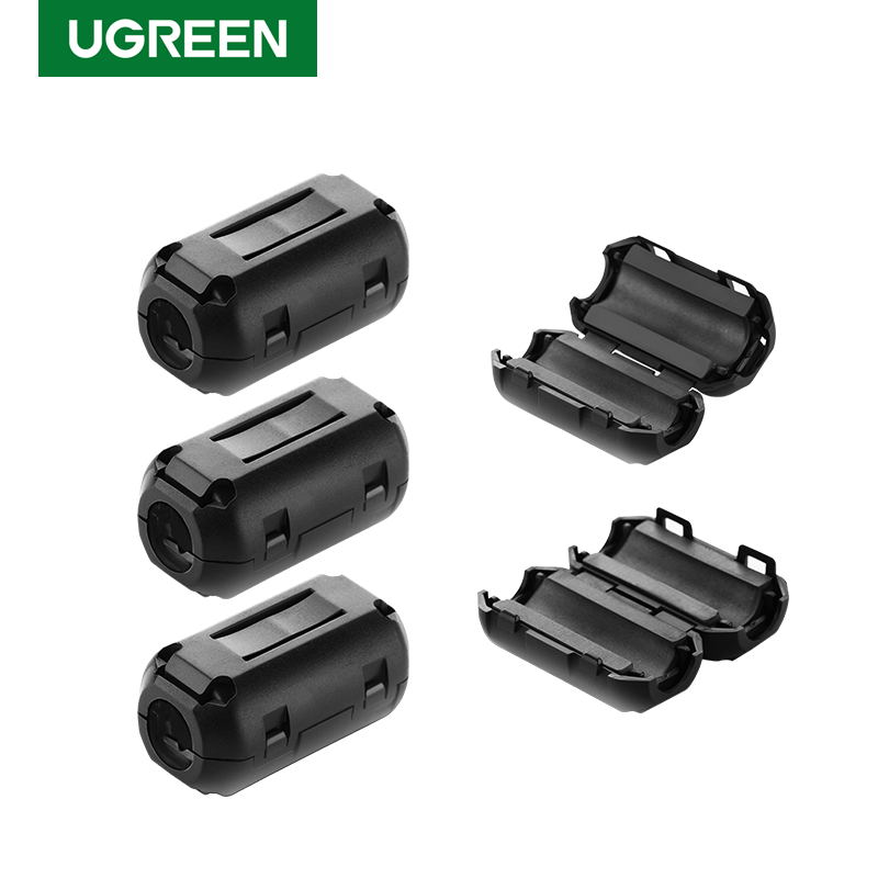 Ugreen Clip-on Ferrite Filter Ring Core for Digital Cables RFI EMI Noise Suppressor Active Components Filters Cable Protector