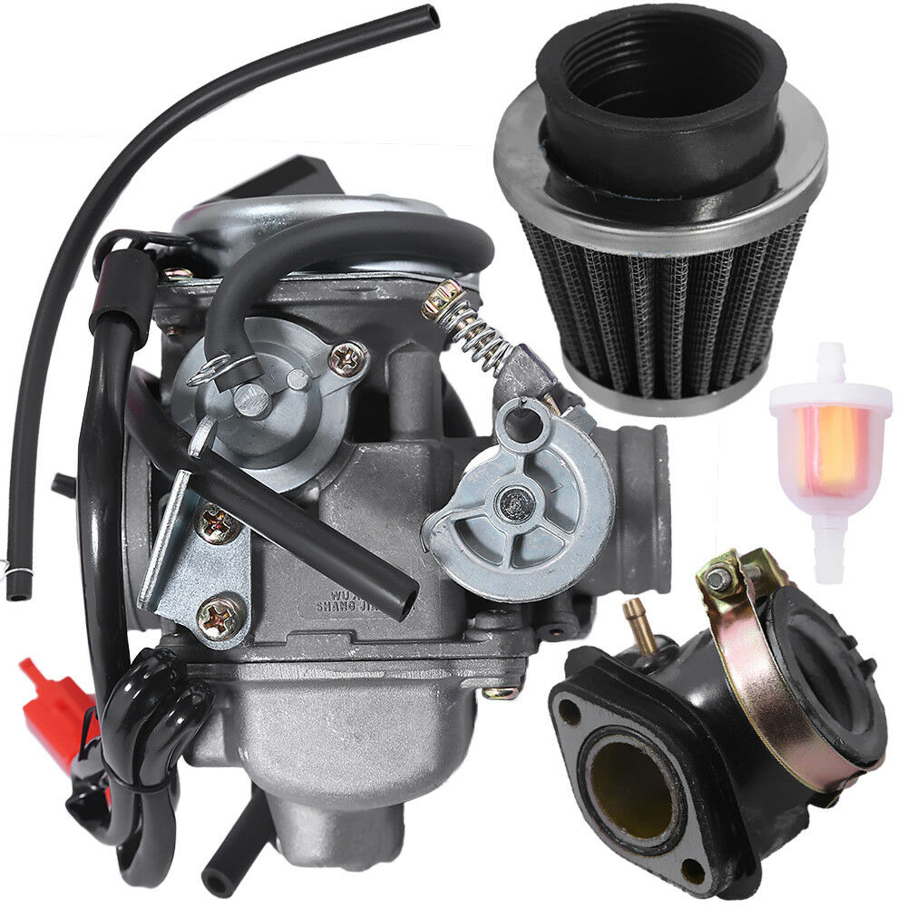 GY6 Harness Wire and 150cc Carburetor 4 StrokeScooter  with Air Filter Intake Manifold suit enlarge